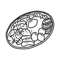 Labskaus Icon. Doodle Hand Drawn or Outline Icon Style vector