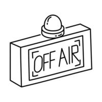 Off Air Icon. Doodle Hand Drawn or Outline Icon Style vector