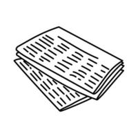 Newspaper Icon. Doodle Hand Drawn or Outline Icon Style vector