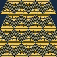 tribe village background triangle symbol batik seamless pattern themed traditional culture of inland tribal jungle vector