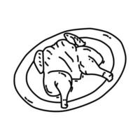 Ayam Goreng Icon. Doodle Hand Drawn or Outline Icon Style vector