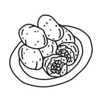 Combro Icon. Doodle Hand Drawn or Outline Icon Style vector