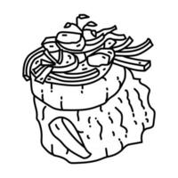 Himmel un aad Icon. Doodle Hand Drawn or Outline Icon Style vector