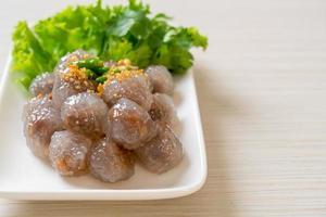 Steamed Tapioca Dumplings with Pork photo