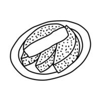 Bandros Icon. Doodle Hand Drawn or Outline Icon Style vector