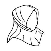 Muslim Women Icon. Doodle Hand Drawn or Outline Icon Style vector