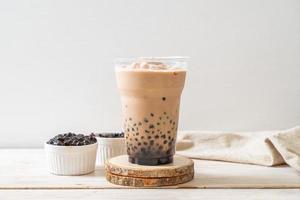 Taiwan milk tea with bubbles photo