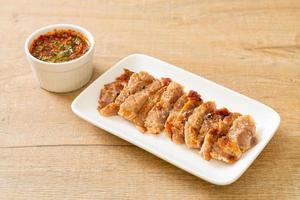 Grilled Pork Neck with Thai Spicy Sauce photo
