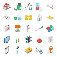 Pack Of Medical Elements vector