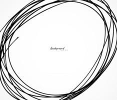 Hand drawn circle line sketch vector