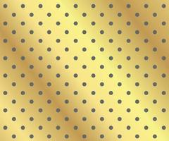 Gold polka dots background vector