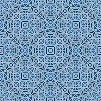 Blue seamless background with multi-colored geometric pattern vector