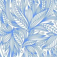 WHITE BACKGROUND WITH BLUE PLANT ELEMENTS vector