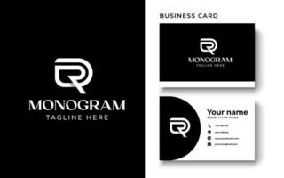 Initial Letter DR RD D R Monogram Logo Template In Isolated Black Background Vector Illustration