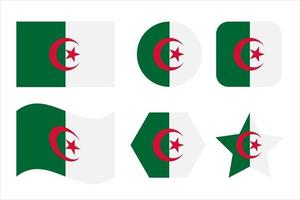 Algeria flag simple illustration for independence day or election vector