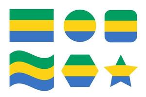 Gabon flag simple illustration for independence day or election vector