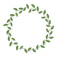Laurel wreath isolated on white background. Vector Illustration
