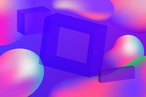 Gradient Fluid with square geometric shape vector