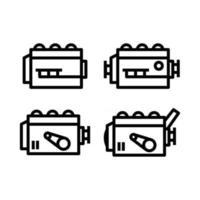 Engine icon set vector