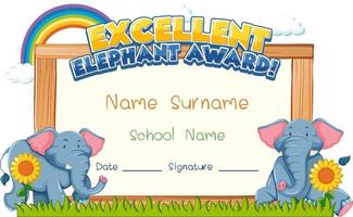 Diploma or certificate template for school kids vector