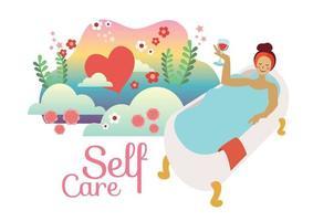 self care concept take care yourself vector