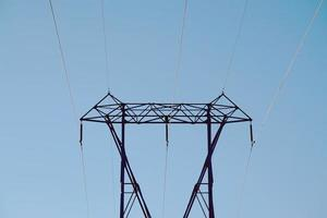 Power transmission electricity tower photo