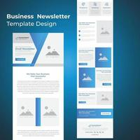 Responsive business email template vector