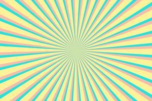 Multicolor Sunburst Pattern Background. Ray star burst backdrop. Rays Radial geometric Vector Illustration
