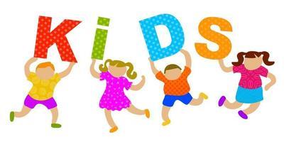 Happy Kids Text vector