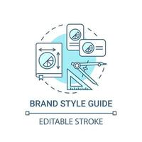 Brand style guide concept icon. Business branding service abstract idea thin line illustration. Making up visual product identity. Vector isolated outline color drawing. Editable stroke