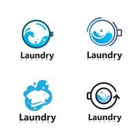 Laundry Washing Machine Logo With Circle for your laundry business icon vector