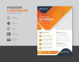 Corporate business flyer template design set with blue magenta red and yellow color marketing, business proposal promotion advertise publication cover page vector