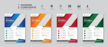 Digital marketing agency flyer template vector