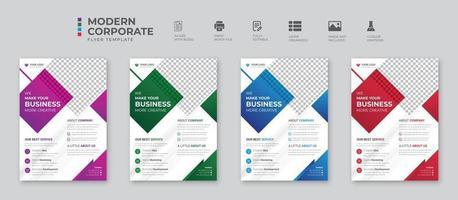 folleto de conferencia corporativa y de negocios creativo diseño de plantilla de folleto folleto de negocios abstracto diseño de plantilla de vector diseño de folleto portada informe anual folleto de cartel