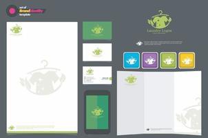 Laundry design vector. Stock Illustrations. eps 10 vector