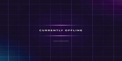 neon lines twitch offline background design vector