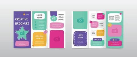 playful trifold brochure design templates vector