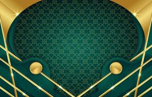 Green Abstract with Gold Background vector