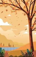 Landscape in Autumn Concept vector