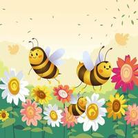 Wild Honey Bee vector