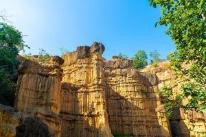 Pha chor o el gran cañón chiangmai en el parque nacional mae wang, chiang mai, tailandia foto