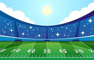 fondo del estadio de fútbol americano vector