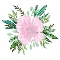 delicate flower leaves foliage isolated design vector