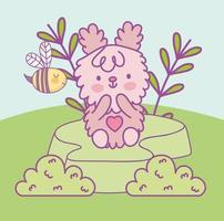 cute fluffy animal vector
