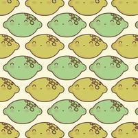 lemon cute pattern vector