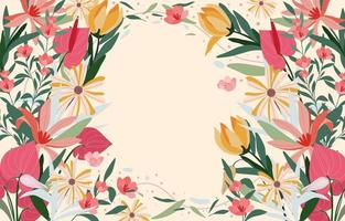Colorful Flat Abstract Blooming Background vector