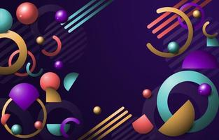 Abstract Gradient Realistic Geometric vector