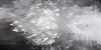 Plantilla de triángulo de poli vector gris claro.