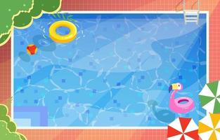 Summer in Swimming Pool vector