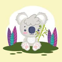 cute koala stuffed animal vector